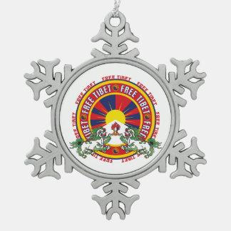 Free Tibet Round Logo Ornament