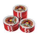 Free Tibet Round Logo Poker Chips