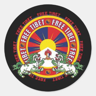 Free Tibet Round Logo Classic Round Sticker