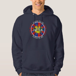 Free Tibet Snow Lions and Independence Slogan Hooded Pullover
