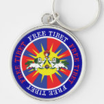 Free Tibet Snow Lions and Independence Slogan Keychains