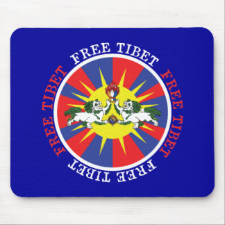 Free Tibet Snow Lions and Independence Slogan Mouse Pad