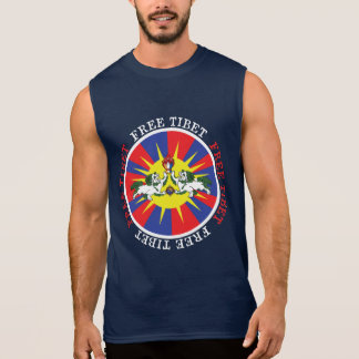 Free Tibet Snow Lions and Independence Slogan Sleeveless T-shirt