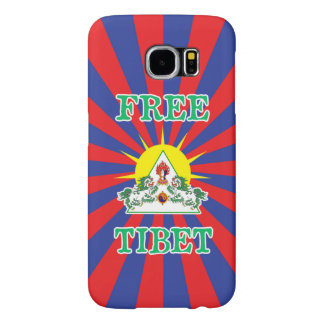 Free Tibet Snow Lions and Sun Symbol Samsung Galaxy S6 Case