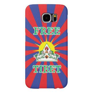 Free Tibet Snow Lions and Sun Symbol Samsung Galaxy S6 Cases