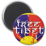FREE TIBET T-SHIRTS & GEAR 2 INCH ROUND MAGNET