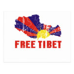 FREE TIBET / TIBETAN FREEDOM POSTCARD