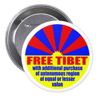Free Tibet -- with... (Metal Pinback Button) Pinback Button