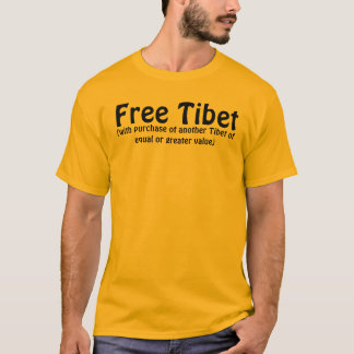 Free Tibet (with purchase of another Tibet of equa T-Shirt