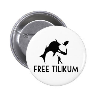 Free Tilikum Save the Orca Killer Whale Button