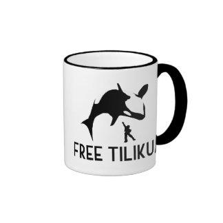 Free Tilikum Save the Orca Killer Whale Ringer Mug