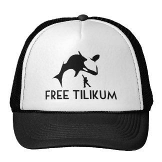 Free Tilikum Save the Orca Killer Whale Trucker Hat