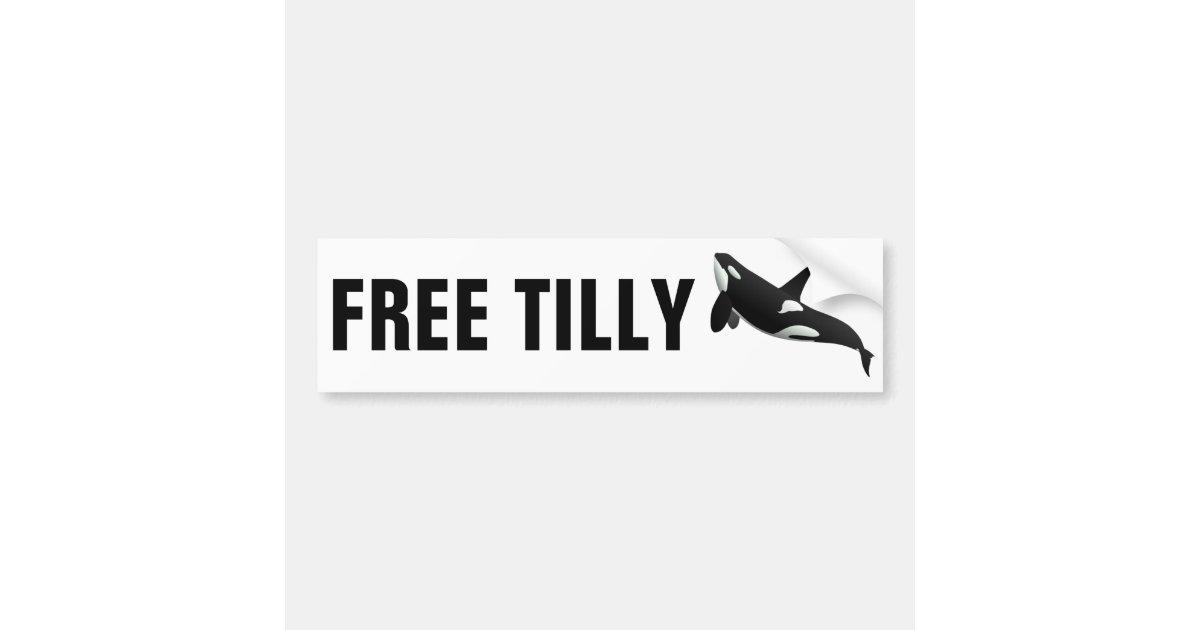 free tilly bumper sticker