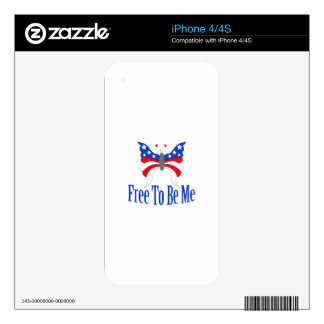 Free To Be Me Skins For iPhone 4S