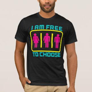 FREE TO CHOOSE: Gender Neutral Bathroom Right Bill T-Shirt