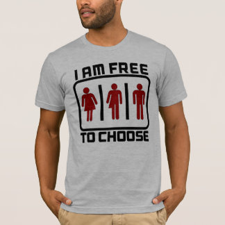 FREE TO CHOOSE: Gender Neutral Toilets Rights Bill T-Shirt