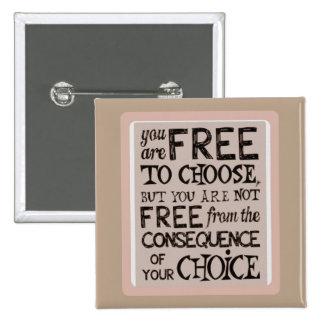 Free to choose pinback button