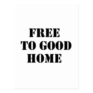 free to good home post card