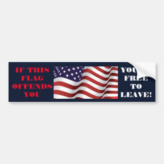 free to leave bumper sticker