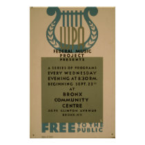 Free To Public Federal Music Project Vintage WPA