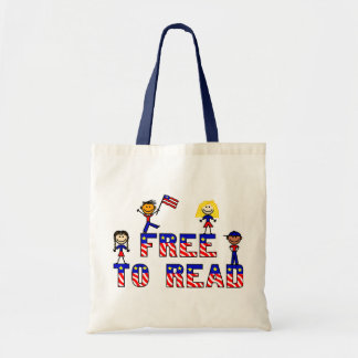 Free to Read w Kids Budget Tote, 5 colors Tote Bag