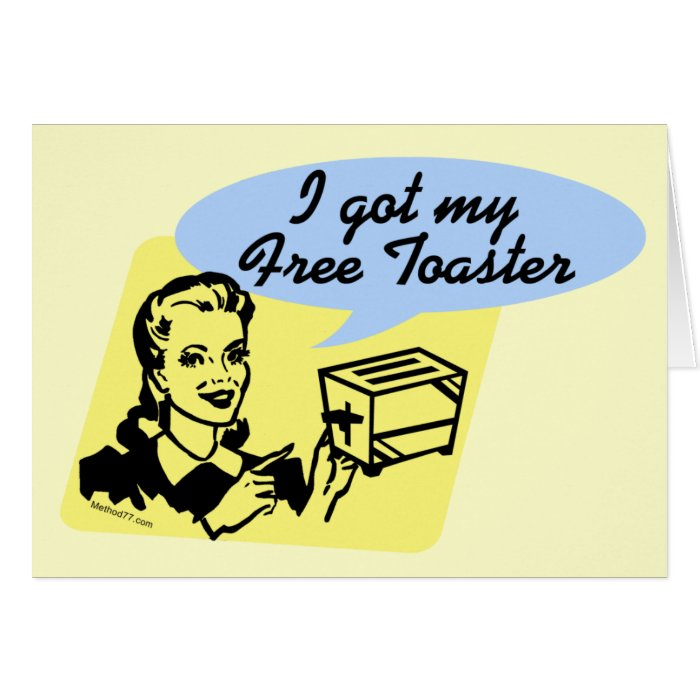Free Toaster greeting cards