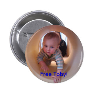 Free Toby! Pinback Button