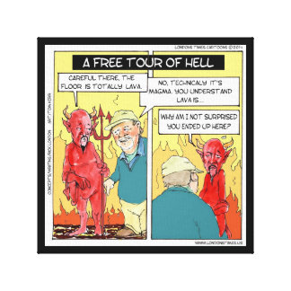 Free Tour Of Hell Funny Poster Canvas Print