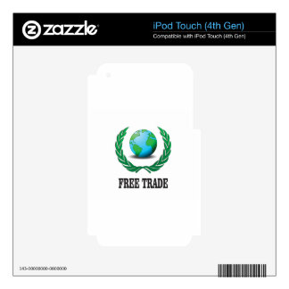 free trade fern decals for iPod touch 4G