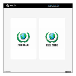 free trade fern kindle fire decals