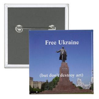 Free Ukraine (but don't destroy art) button
