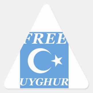 FREE UYGHUR TRIANGLE STICKER