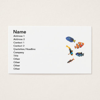 Free vector fishes.ai business card