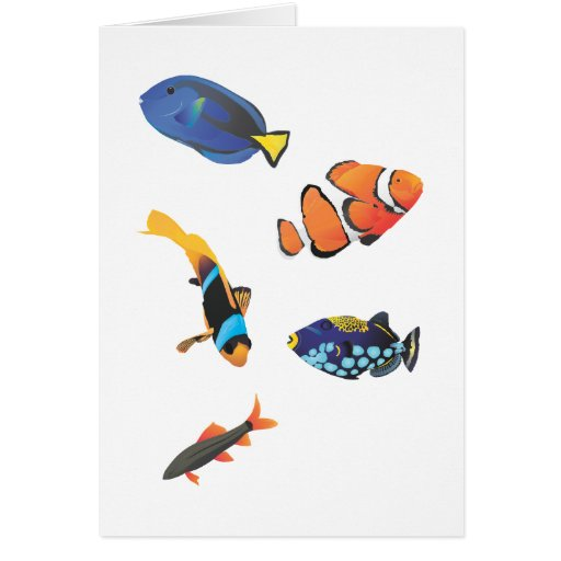 Free vector fishes.ai greeting card