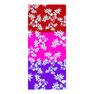 Free Vector Seamless Flower Pattern2 Full Color Rack Card