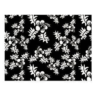 Free Vector Seamless Flower Pattern3 black white h Postcard