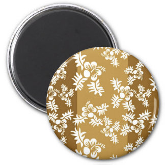 Free Vector Seamless Flower Pattern4 hawaiian 2 Inch Round Magnet
