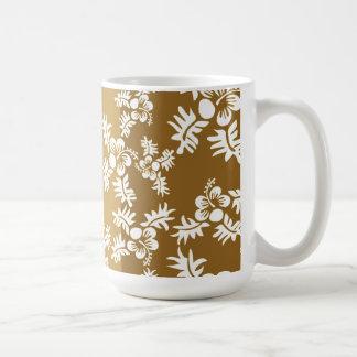 Free Vector Seamless Flower Pattern4 hawaiian Mug