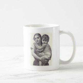 free vintage printable - mother and child jpg coffee mug