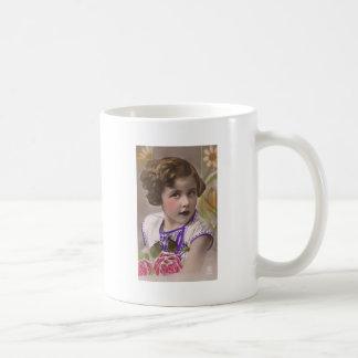 free vintage printable - sweet tinted girl photo j coffee mug