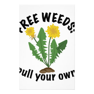 Free Weeds Stationery