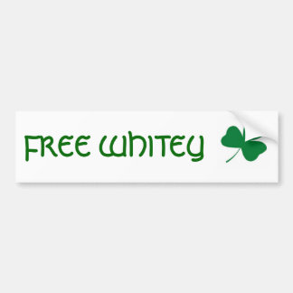 FREE WHITEY CAR BUMPER STICKER