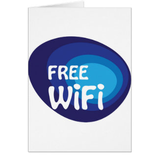 Free wifi Abstract vector Card