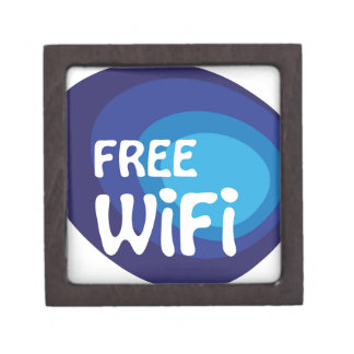 Free wifi Abstract vector Gift Box