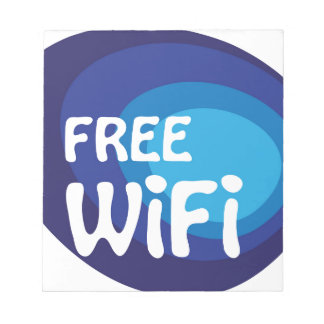 Free wifi Abstract vector Note Pad
