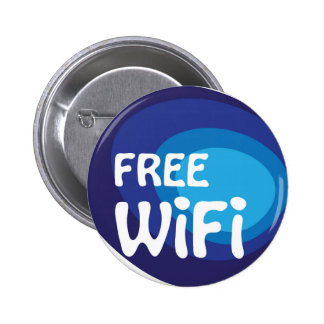 Free wifi Abstract vector Pinback Button