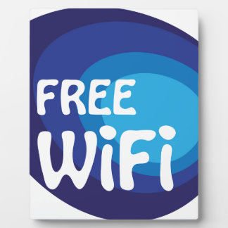 Free wifi Abstract vector Plaque