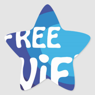 Free wifi Abstract vector Star Sticker