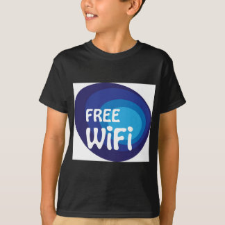 Free wifi Abstract vector T-Shirt