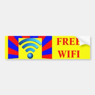 Free Wifi Bumper Sticker